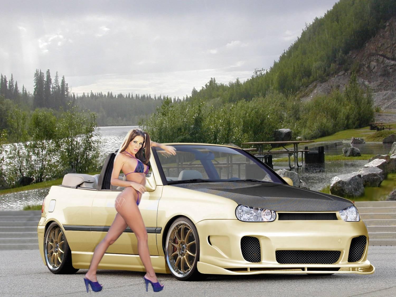 Автомобили Авто с девушками обои для рабочего стола 1024x768.